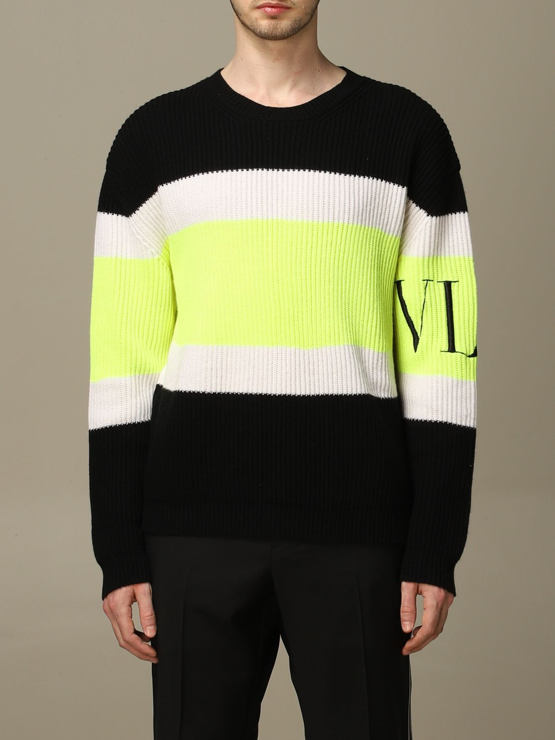 Sweater Valentino: Valentino pure wool pullover with VLTN logo black 1