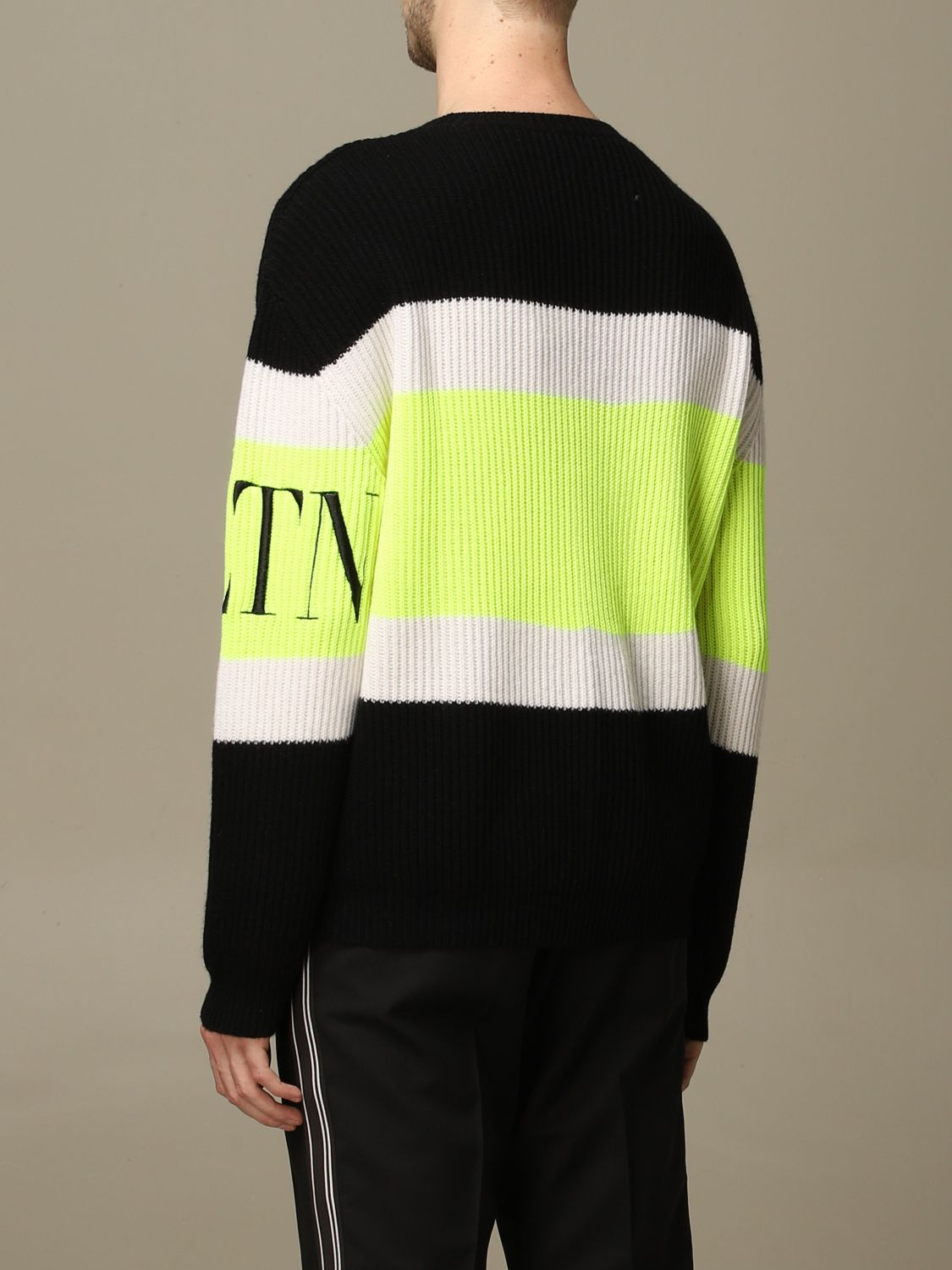 Sweater Valentino: Valentino pure wool pullover with VLTN logo black 3