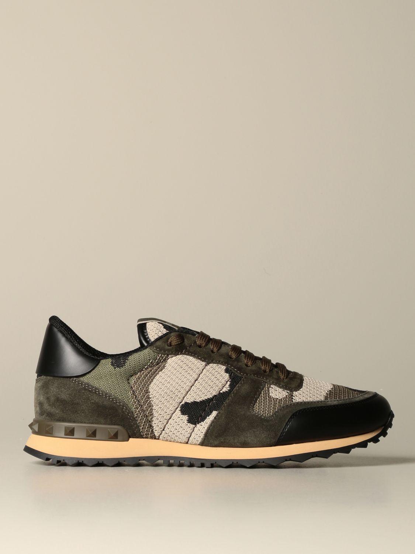 Sneakers Valentino Garavani: Sneakers Rock runner Valentino Garavani camouflage militare 1