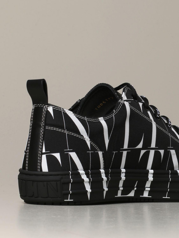 Sneakers Valentino Garavani: Valentino Garavani Giggies sneakers in all-over VLTN canvas and leather black 3