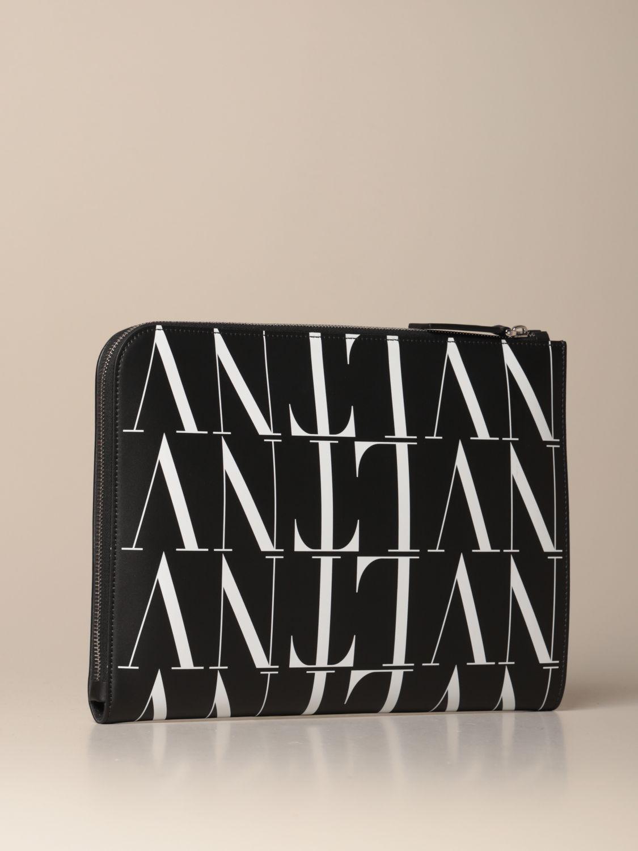 Portadocumenti Valentino Garavani: Portadocumenti Valentino Garavani in pelle con logo VLTN nero 2