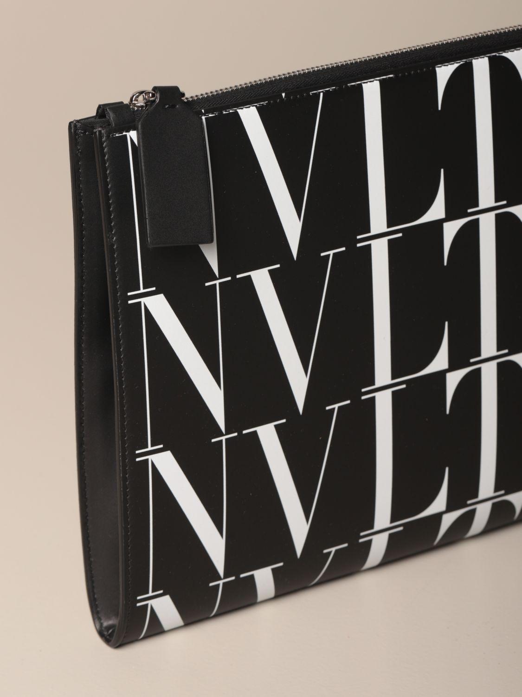 Portadocumenti Valentino Garavani: Portadocumenti Valentino Garavani in pelle con logo VLTN nero 3