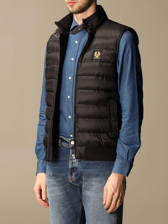 Suit vest Belstaff: Circuit vest with Belstaff down jacket in nylon black 3