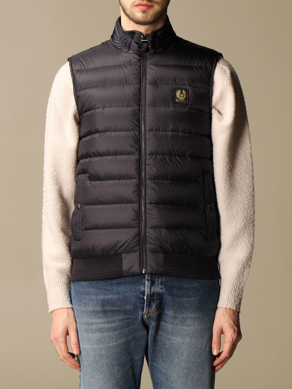 Waistcoat Belstaff: Jacket men Belstaff blue 1