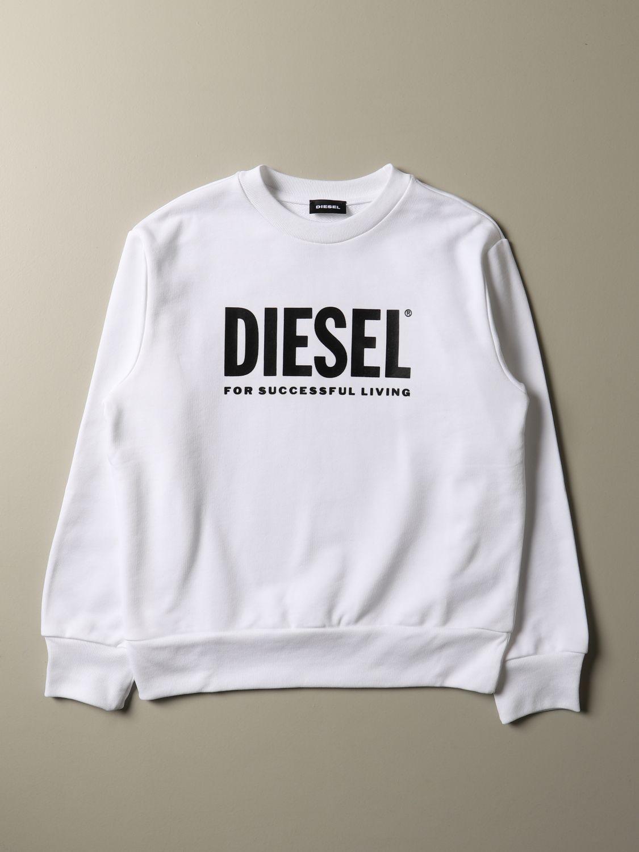 Maglia Diesel: Felpa Diesel a girocollo in cotone con logo giallo 1
