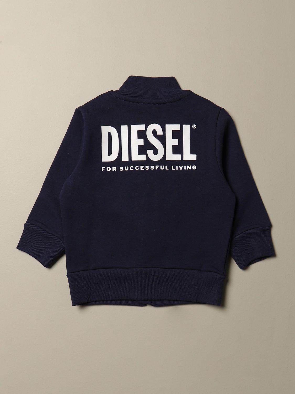 Maglia Diesel: Felpa Diesel in cotone con zip e logo blue 2