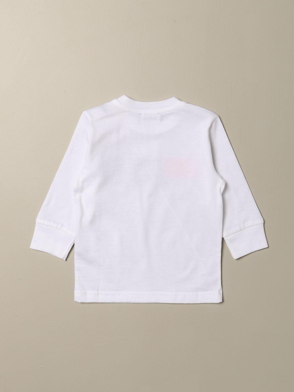 T-shirt Diesel: Maglia Diesel a girocollo in cotone con logo bianco 2