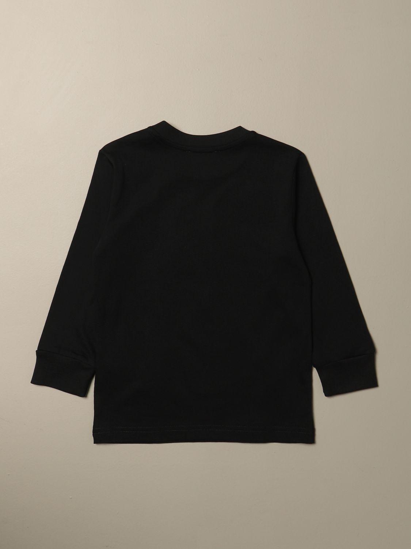 T-shirt Diesel: Maglia Diesel a girocollo in cotone con logo nero 2