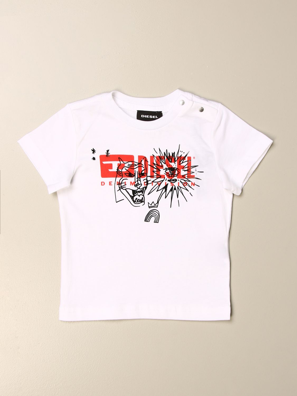 Camiseta Diesel: Camiseta niños Diesel blanco 1