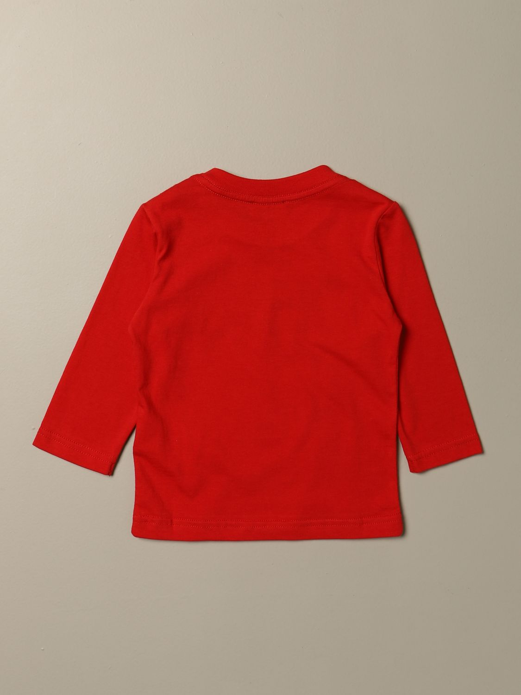 T-shirt Diesel: T-shirt Diesel a girocollo in cotone con logo rosso 2