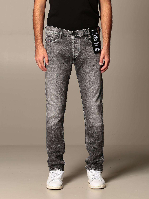 Gracia Monet sal  Tepphar Diesel jeans in slim carrot used denim   Jeans Diesel Men Grey   Jeans  Diesel 00SWID 009FP Giglio EN