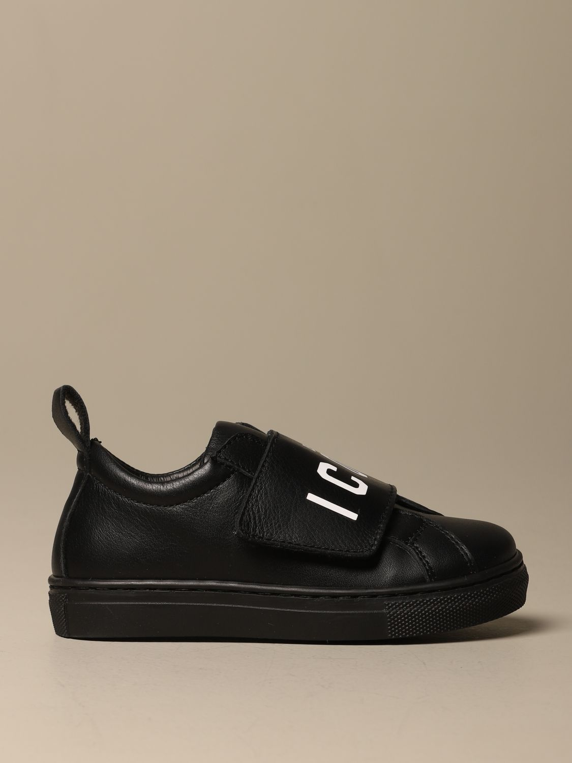 Scarpe Dsquared2: Sneakers Dsquared2 in pelle con logo Icon nero 1