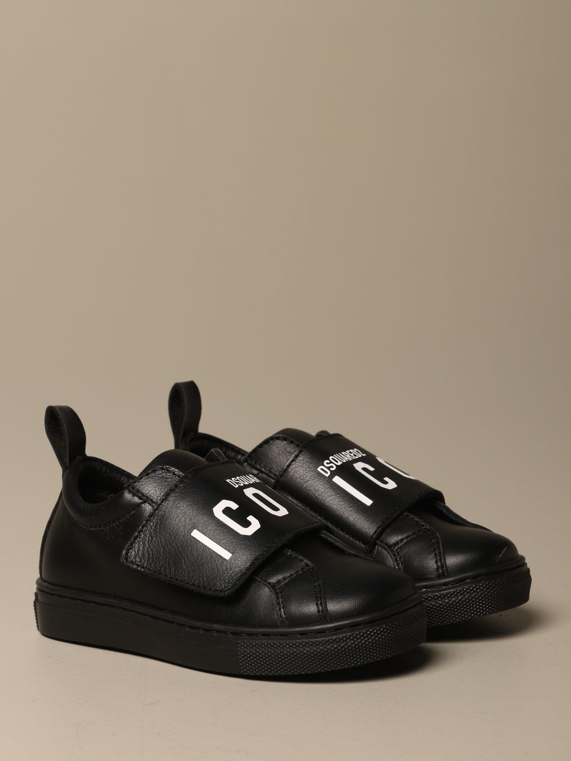 Scarpe Dsquared2: Sneakers Dsquared2 in pelle con logo Icon nero 2