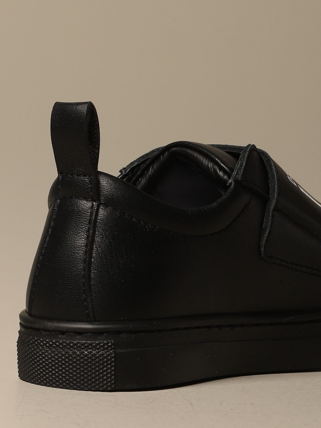 Scarpe Dsquared2: Sneakers Dsquared2 in pelle con logo Icon nero 3
