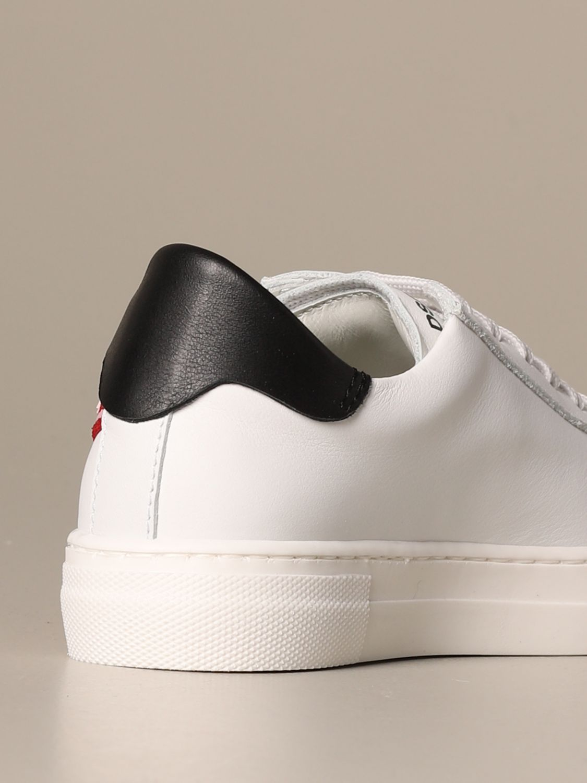 Scarpe Dsquared2: Sneakers Dsquared2 in pelle con banda logata bianco 3