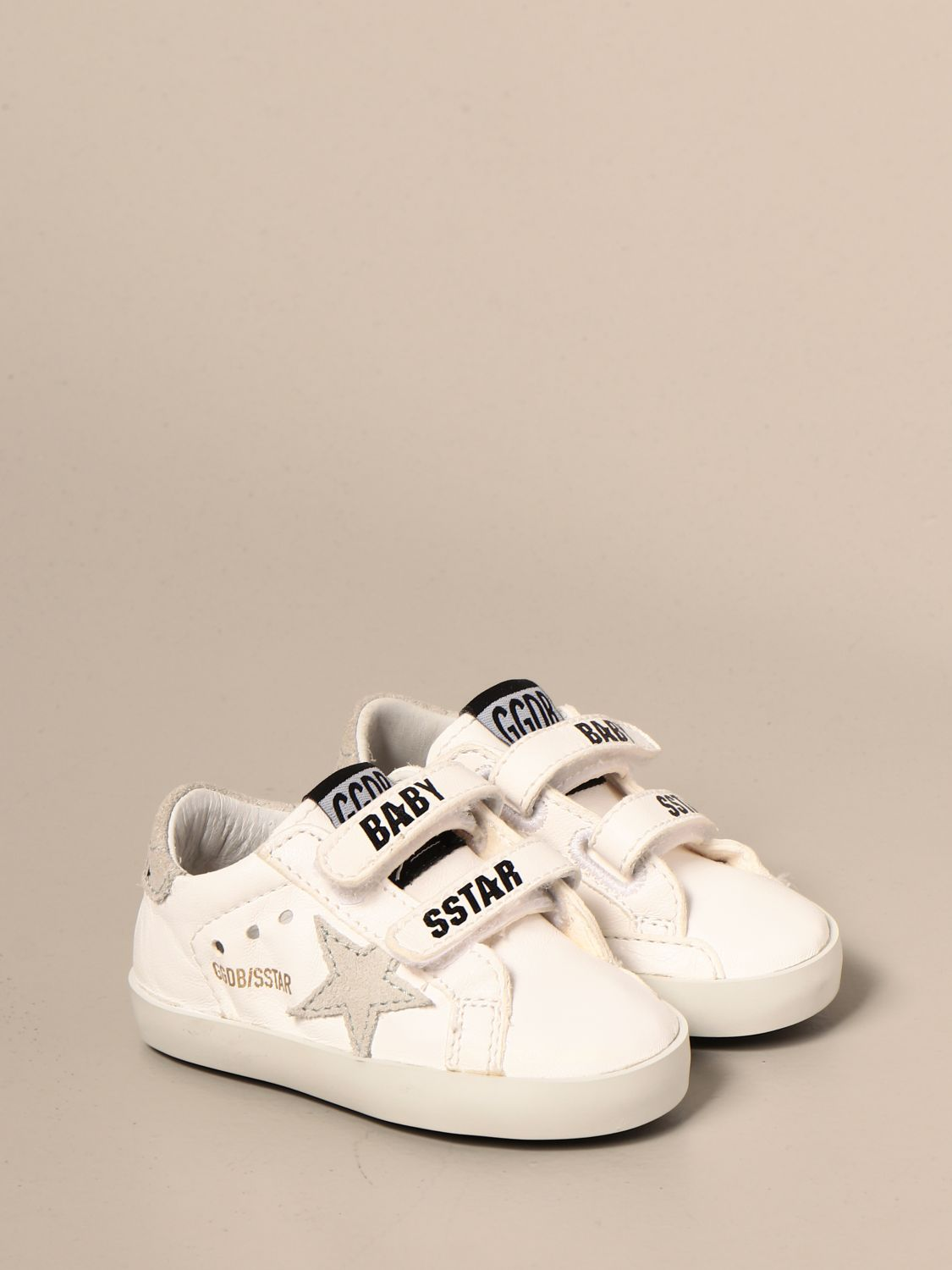 Shoes Golden Goose: Golden Goose Baby school sneakers in leather and suede white 2