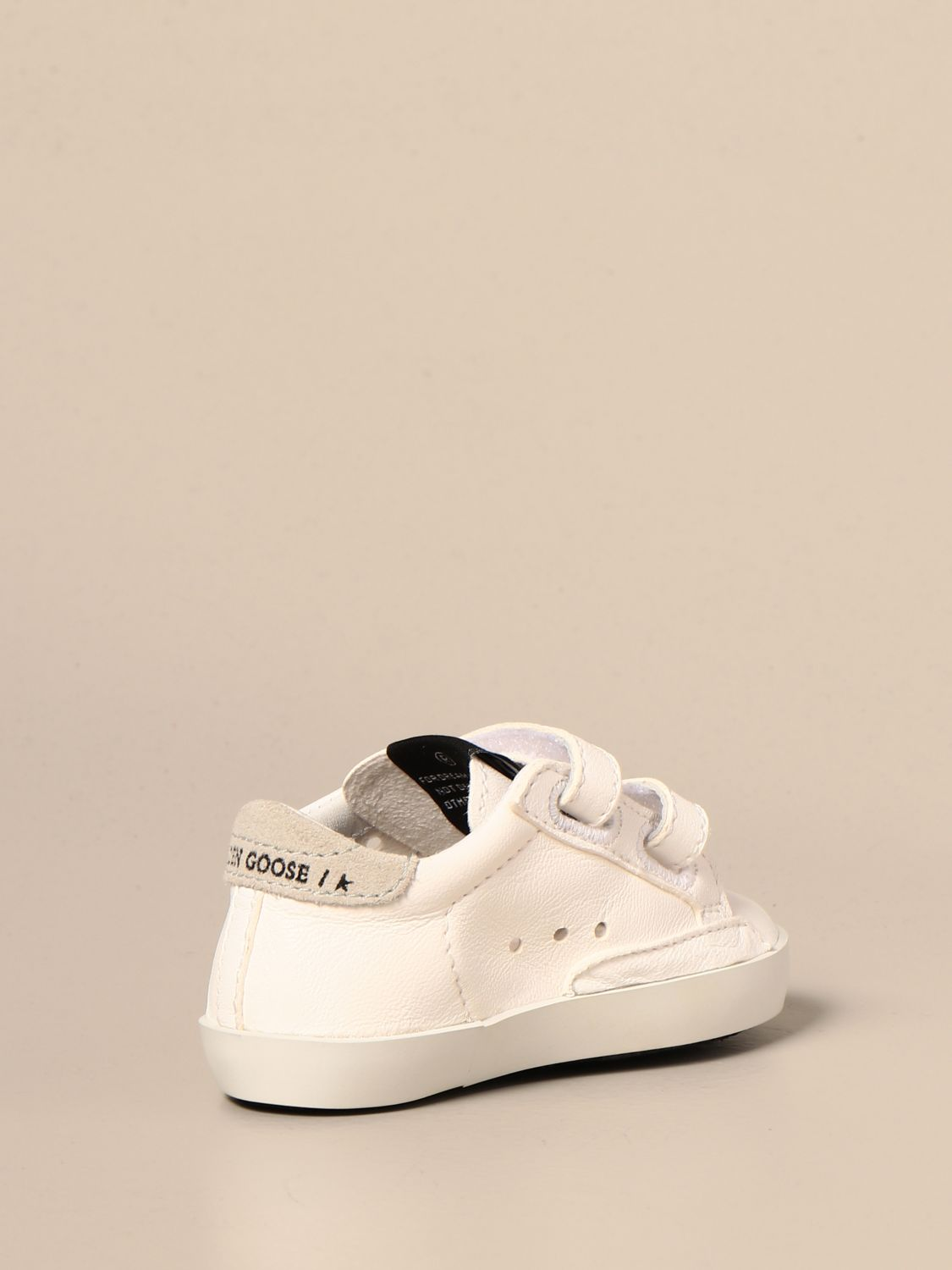 Shoes Golden Goose: Golden Goose Baby school sneakers in leather and suede white 3