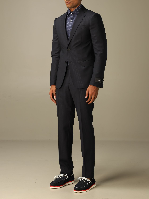 Классический костюм Z Zegna: Классический костюм Мужское Z Zegna синий 4