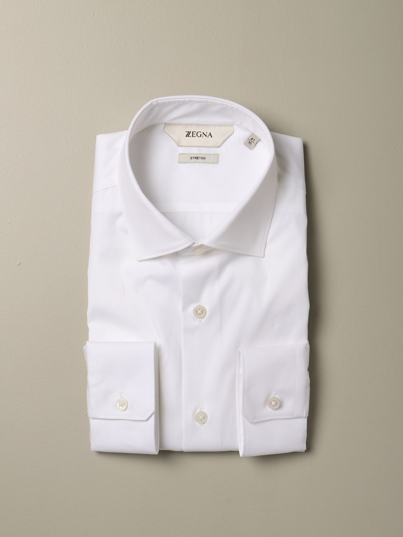 Camicia Z Zegna: Camicia Z Zegna slim in cotone stretch bianco 1