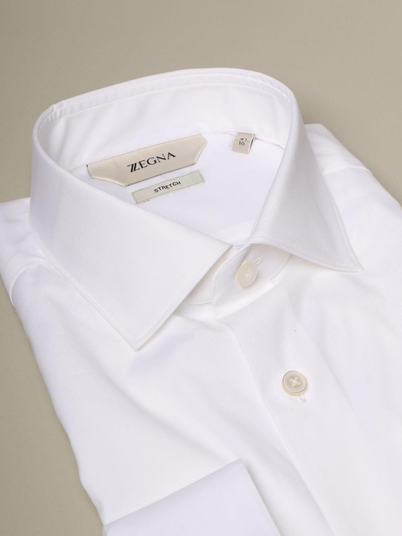 Camicia Z Zegna: Camicia Z Zegna slim in cotone stretch bianco 2