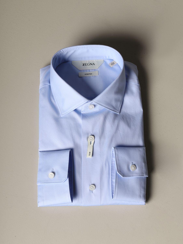 Shirt Z Zegna: Shirt men Z Zegna sky blue 1