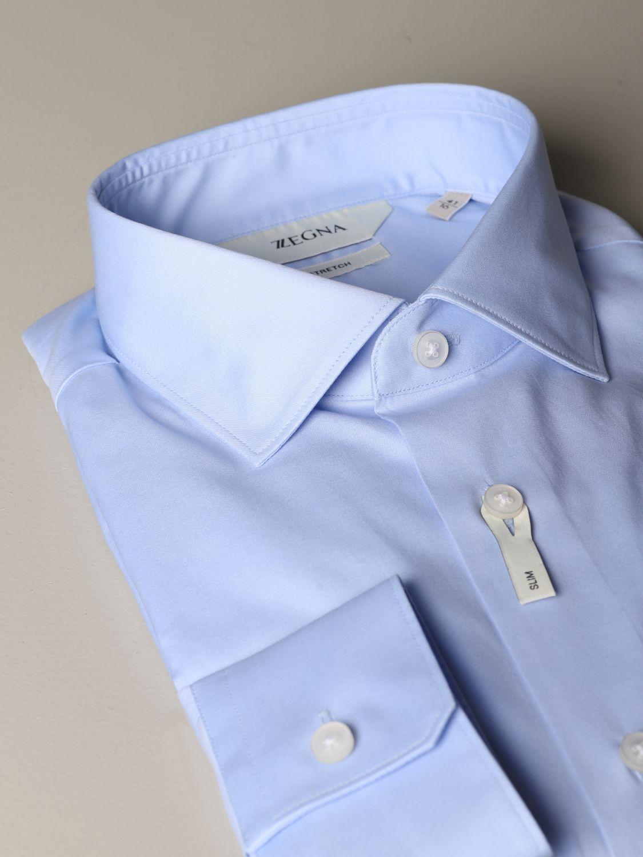 Shirt Z Zegna: Shirt men Z Zegna sky blue 2