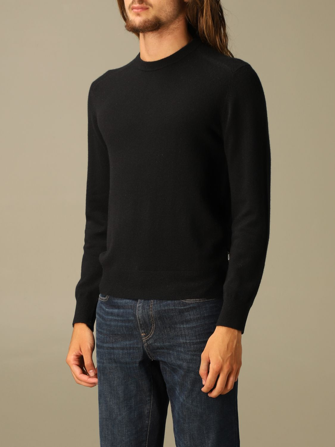 Sweater Z Zegna: Z Zegna cashmere sweater with long sleeves black 3