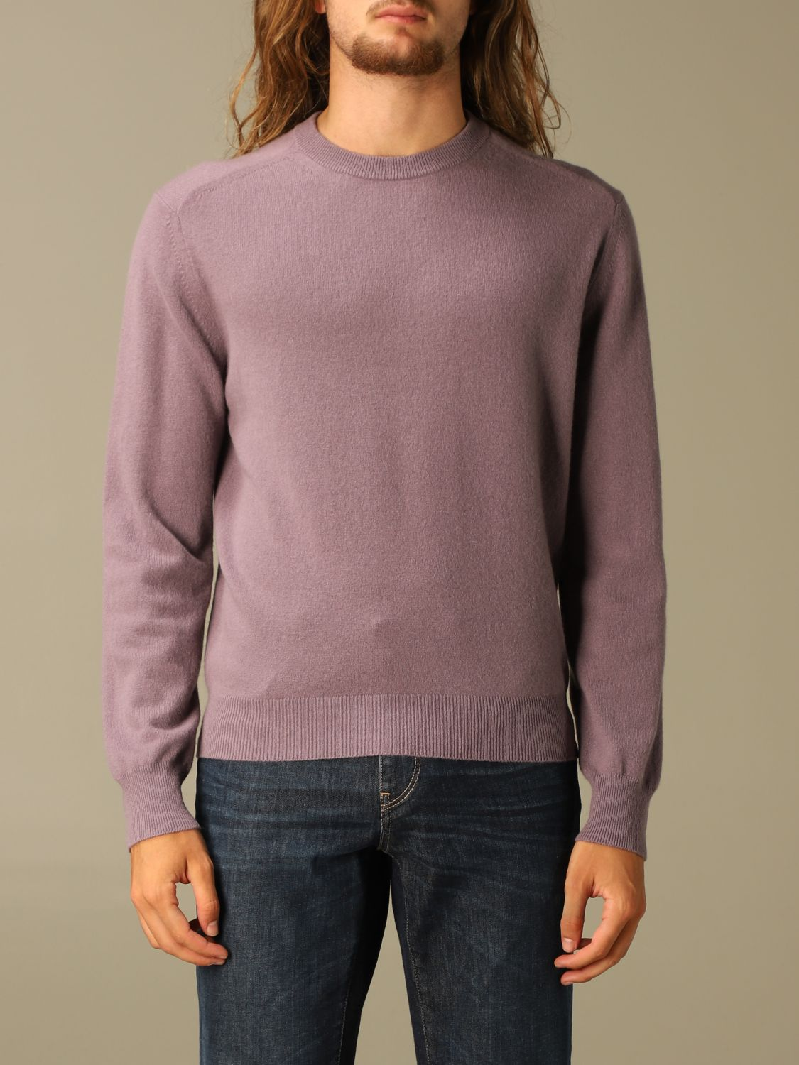 Sweater Z Zegna: Z Zegna cashmere sweater with long sleeves wisteria 1