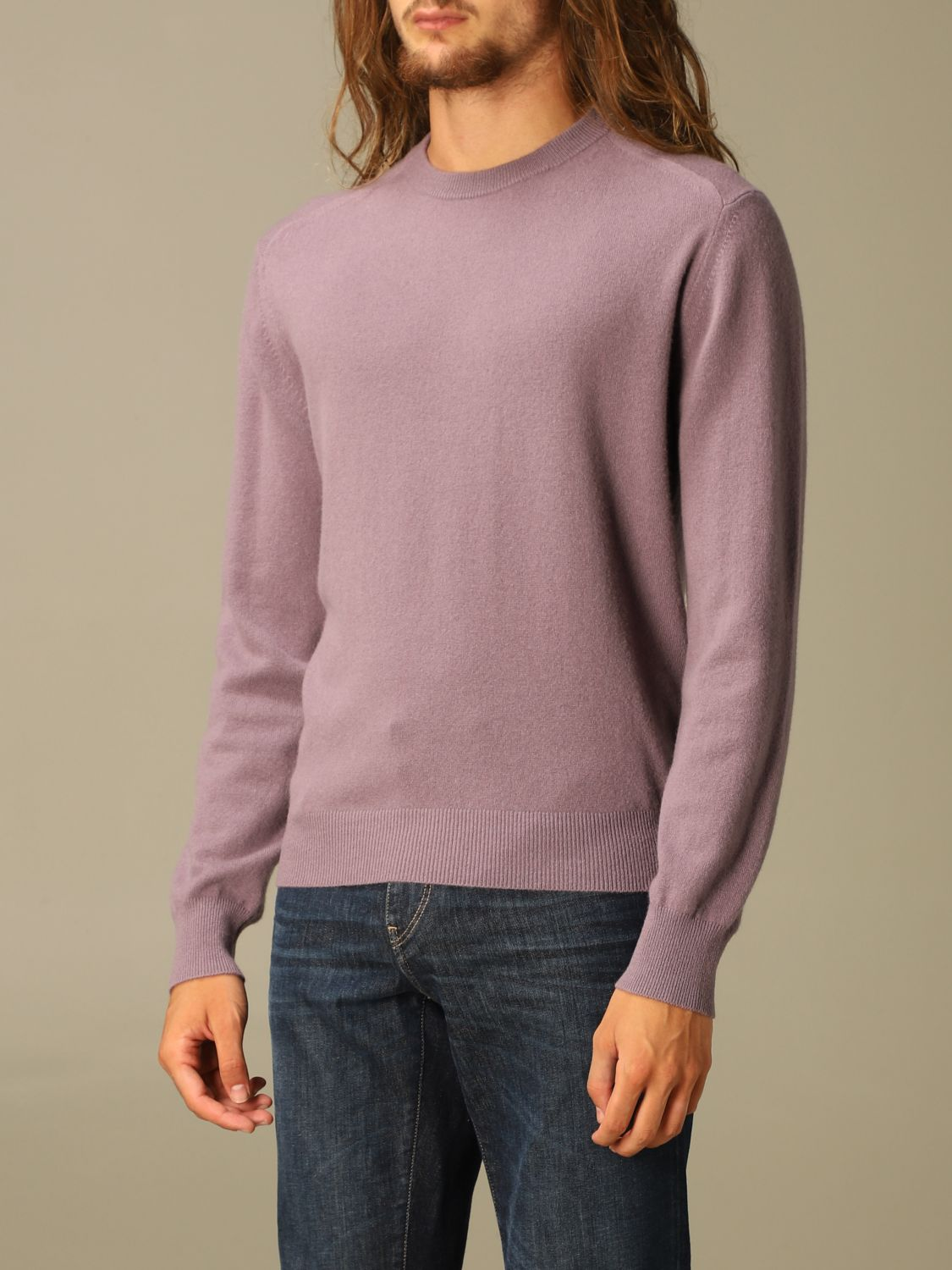 Sweater Z Zegna: Z Zegna cashmere sweater with long sleeves wisteria 3
