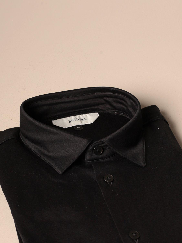 Camicia Z Zegna: Camicia Interlock Z Zegna in cotone nero 2