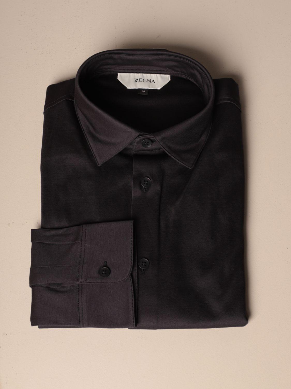 Camisa Z Zegna: Camisa hombre Z Zegna azul oscuro 1