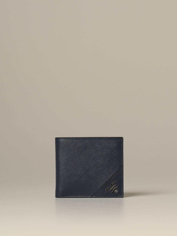Portefeuille Prada: Portefeuille homme Prada bleu 1