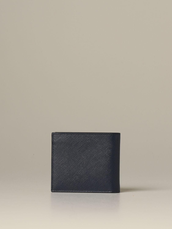 Portefeuille Prada: Portefeuille homme Prada bleu 3
