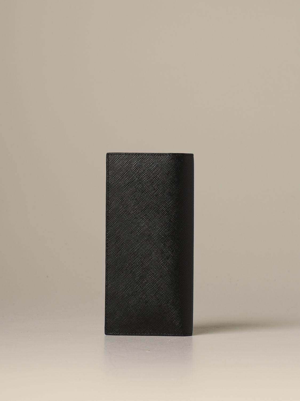 Portefeuille Prada: Portefeuille homme Prada noir 3