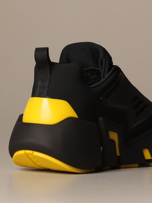 运动鞋 Prada: Prada 三角形Logo装饰弹性科技面料运动鞋 黑色 3