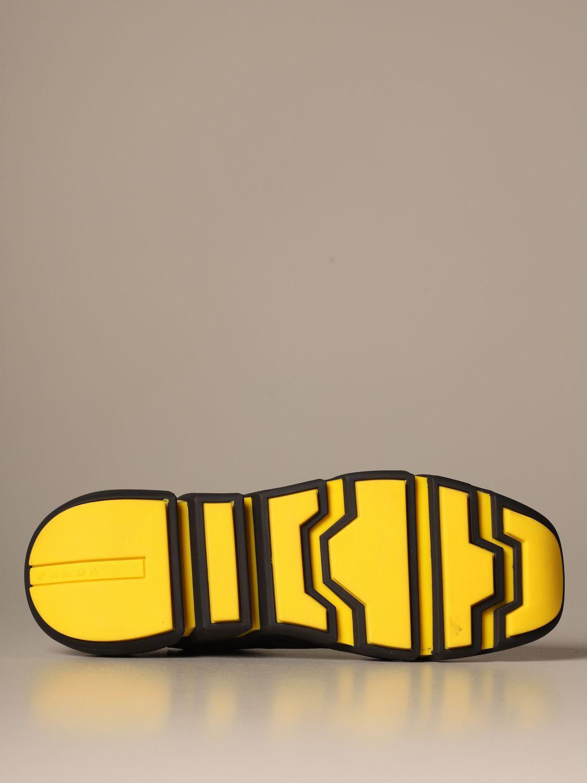 运动鞋 Prada: Prada 三角形Logo装饰弹性科技面料运动鞋 黑色 5
