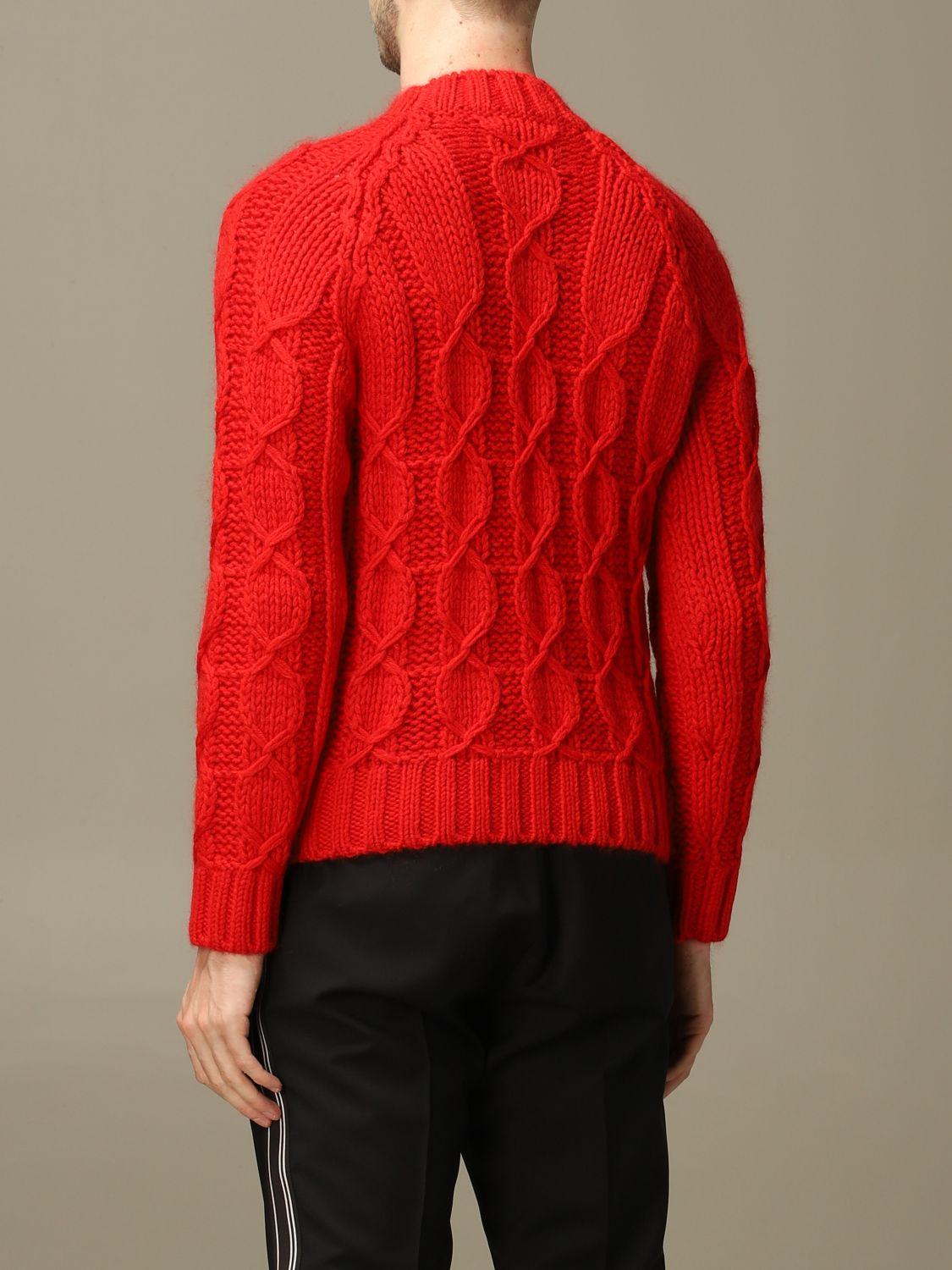 Sweater Saint Laurent: Saint Laurent cable sweater in Mohair wool red 2