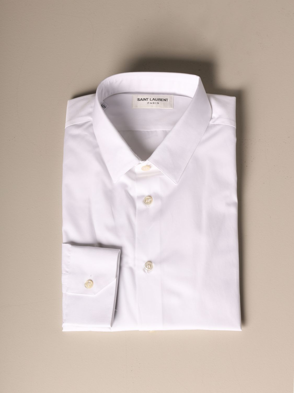 Рубашка Saint Laurent: Рубашка Мужское Saint Laurent белый 1