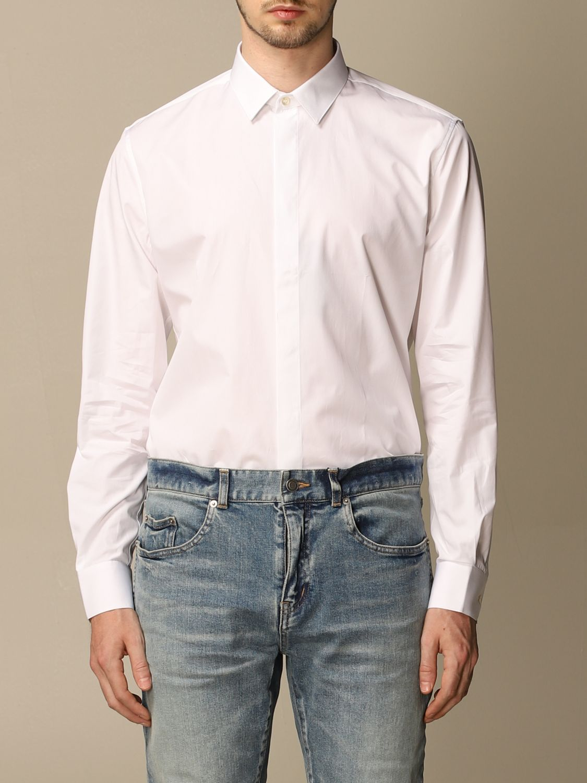Chemise Saint Laurent: Chemise Saint Laurent en coton basiquep blanc 1