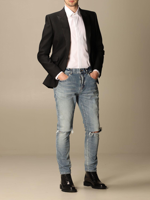 Chemise Saint Laurent: Chemise Saint Laurent en coton basiquep blanc 2