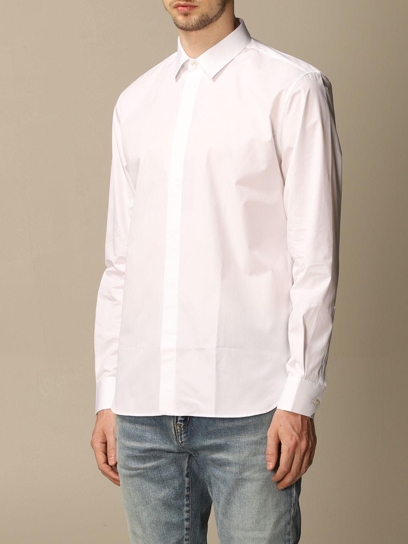 Chemise Saint Laurent: Chemise Saint Laurent en coton basiquep blanc 4