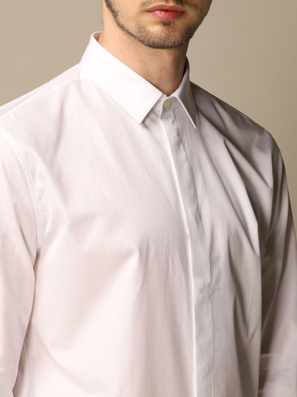 Chemise Saint Laurent: Chemise Saint Laurent en coton basiquep blanc 5