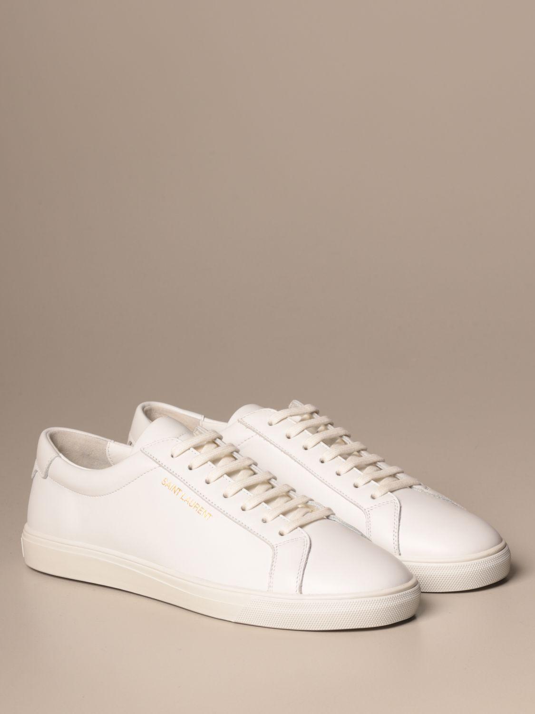 Sneakers Saint Laurent: Saint Laurent low top Andy sneakers in leather white 2
