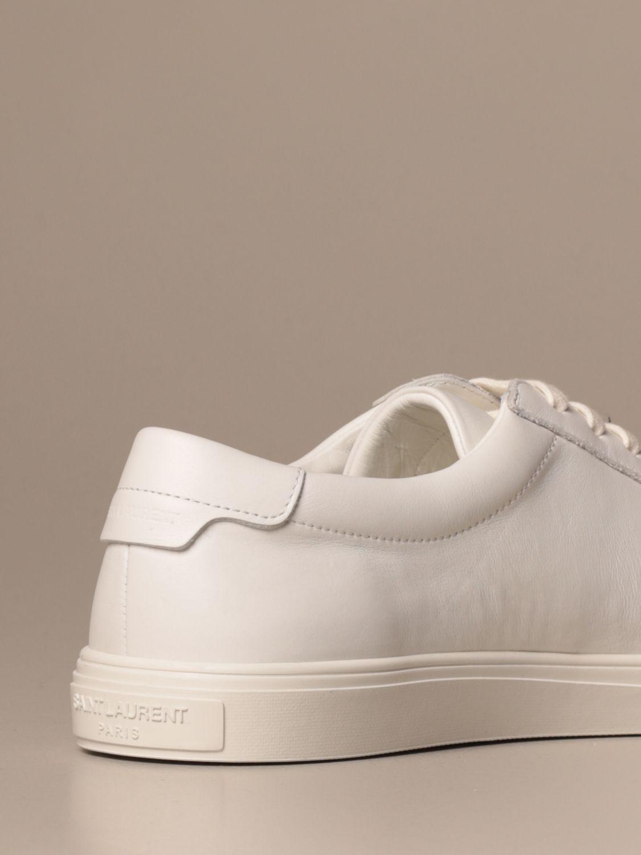 Sneakers Saint Laurent: Saint Laurent low top Andy sneakers in leather white 3