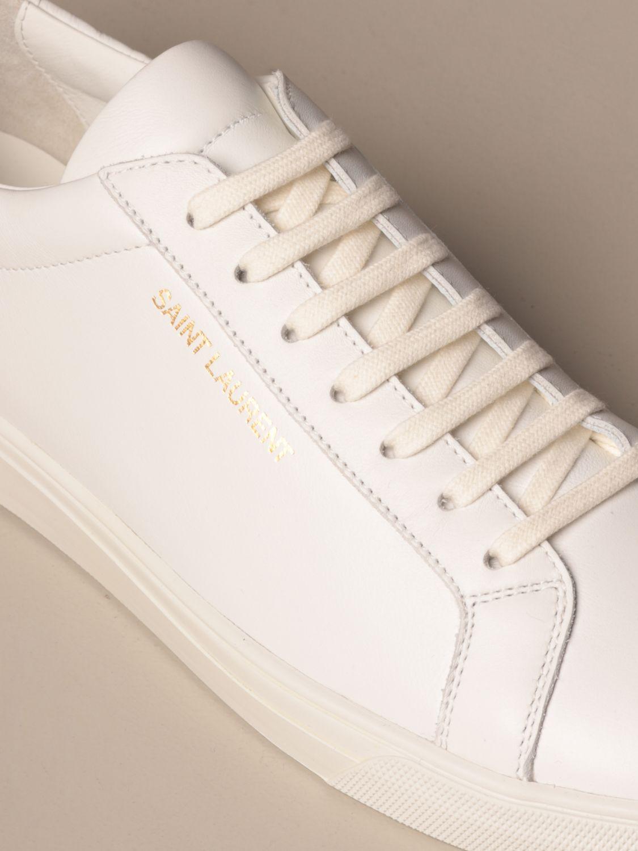 Sneakers Saint Laurent: Saint Laurent low top Andy sneakers in leather white 4