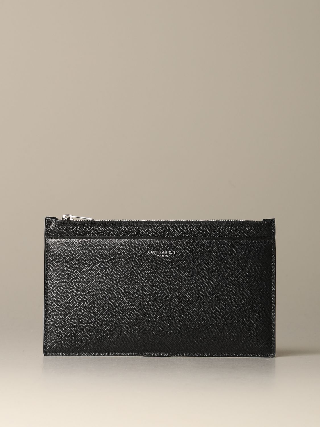 Briefcase Saint Laurent: Saint Laurent clutch in grain de poudre leather black 1