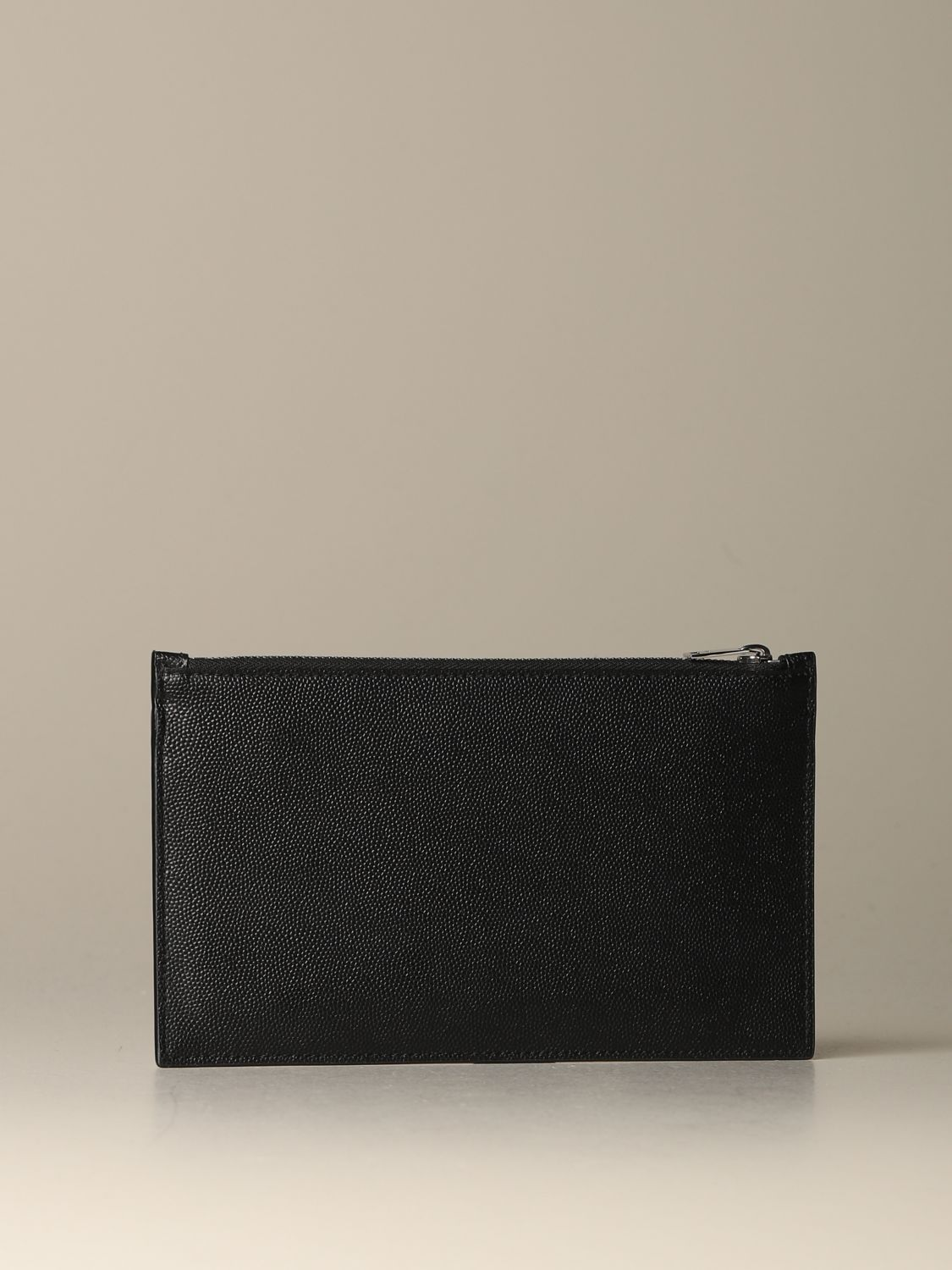Briefcase Saint Laurent: Saint Laurent clutch in grain de poudre leather black 2