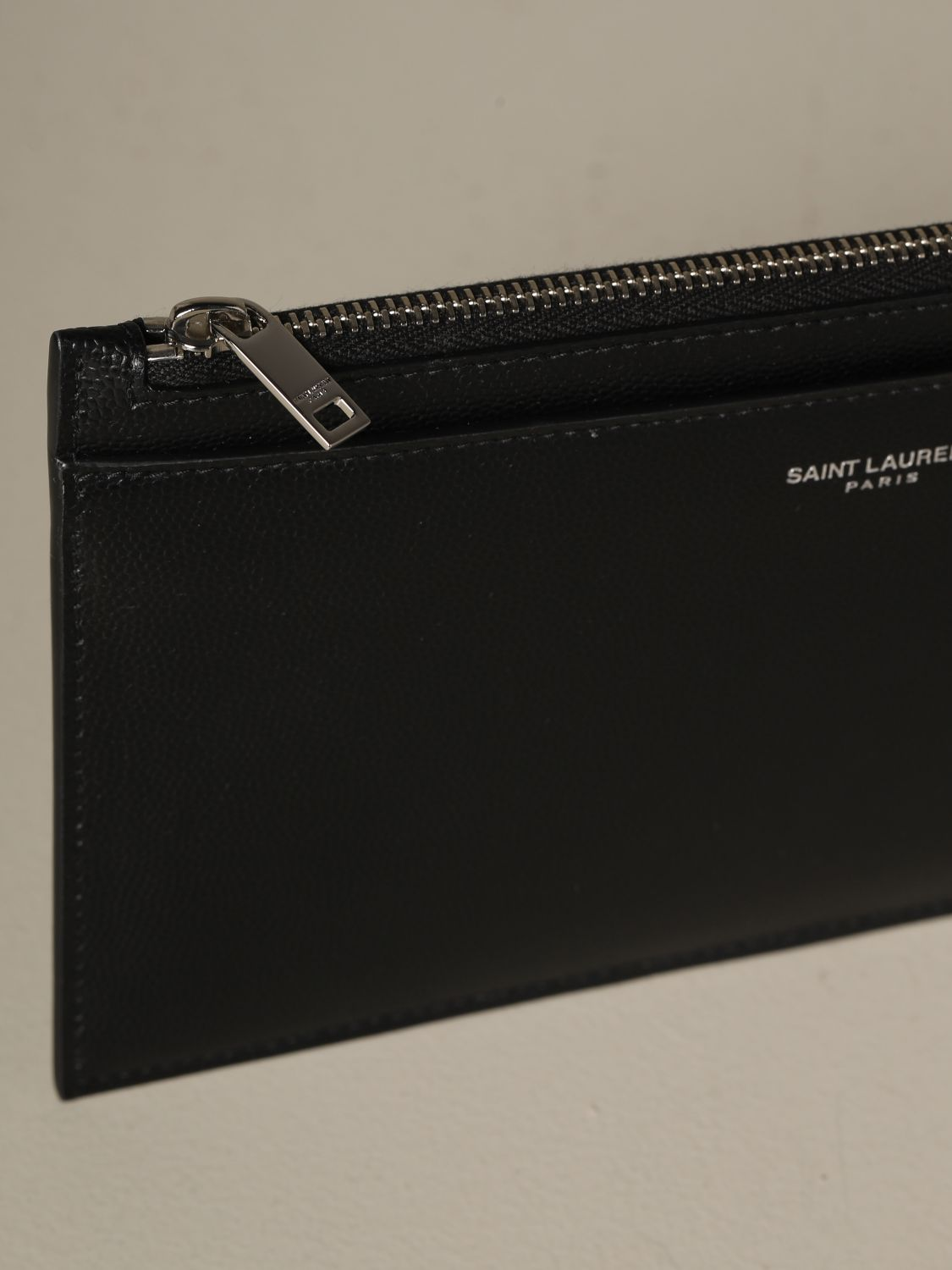 Briefcase Saint Laurent: Saint Laurent clutch in grain de poudre leather black 3