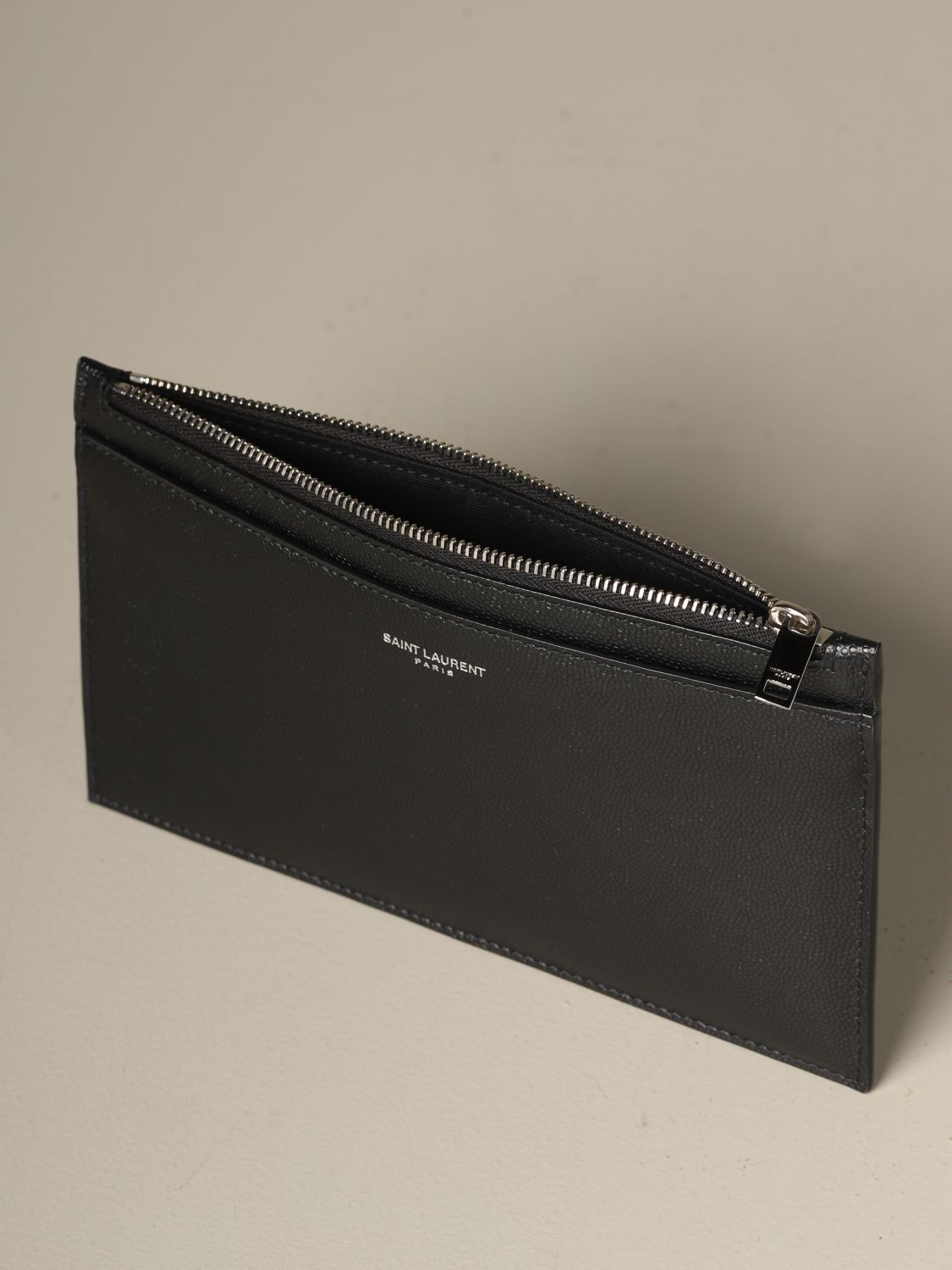 Briefcase Saint Laurent: Saint Laurent clutch in grain de poudre leather black 4