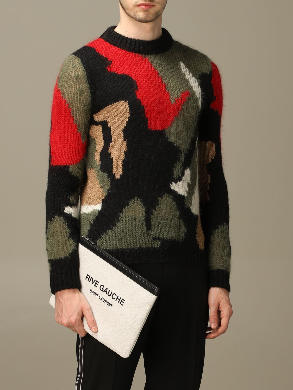 Briefcase Saint Laurent: Saint Laurent clutch in canvas and leather white 2